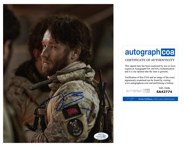 Joel Edgerton Zero Dark Thirty Signed Autograph 8x10 Photo ACOA Warrior Gringo #7