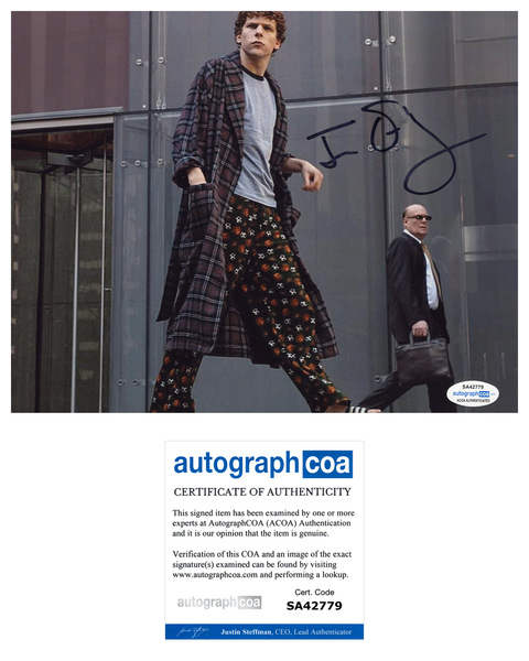 Jesse Eisenberg Social Network  Signed Autograph 8x10 Photo #7