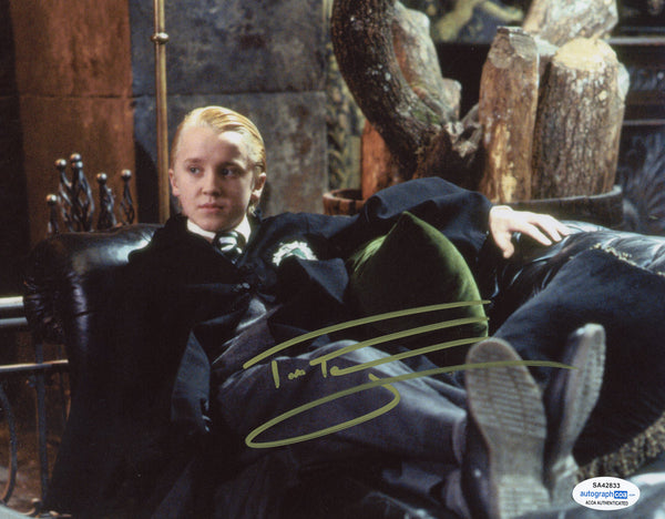 Tom Felton Harry Potter Draco Signed Autograph 8x10 Photo ACOA #2 - Outlaw Hobbies Authentic Autographs