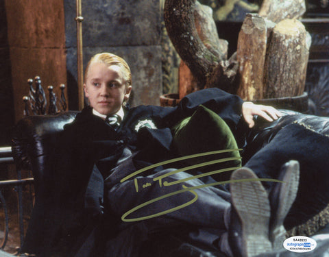Tom Felton Harry Potter Draco Signed Autograph 8x10 Photo ACOA #2