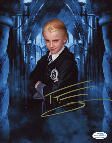 Tom Felton Harry Potter Draco Signed Autograph 8x10 Photo ACOA #8 - Outlaw Hobbies Authentic Autographs