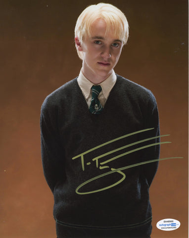 Tom Felton Harry Potter Draco Signed Autograph 8x10 Photo ACOA