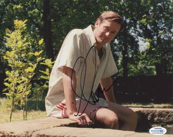 Armie Hammer Call Me By Your Name Signed Autograph 8x10 Photo ACOA