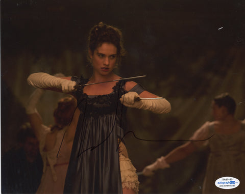 Lily James Pride Prejudice Zombies Signed Autograph 8x10 Photo ACOA