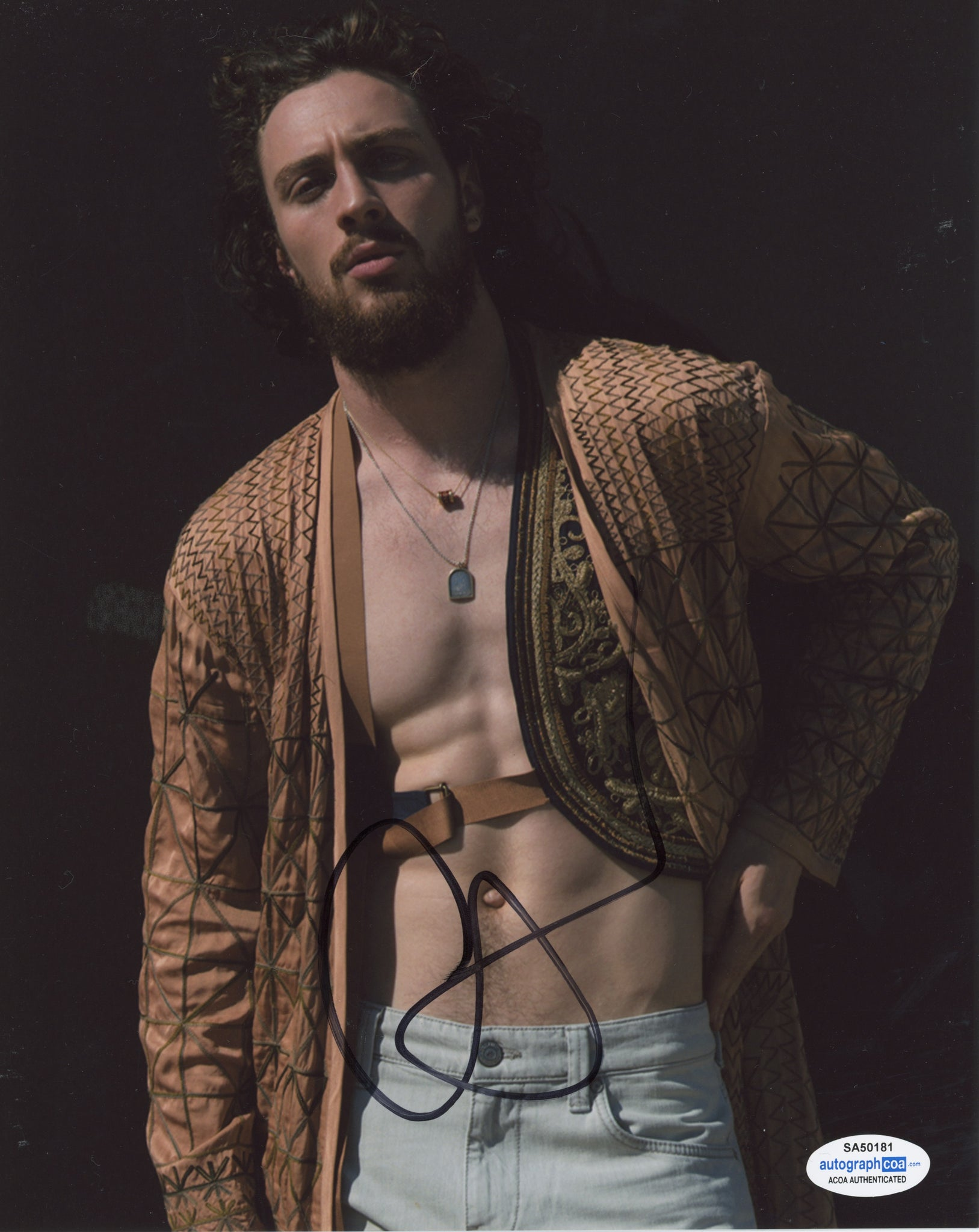 Aaron Taylor Johnson Quicksilver Marvel Avengers Signed Autograph 8x10 Photo ACOA