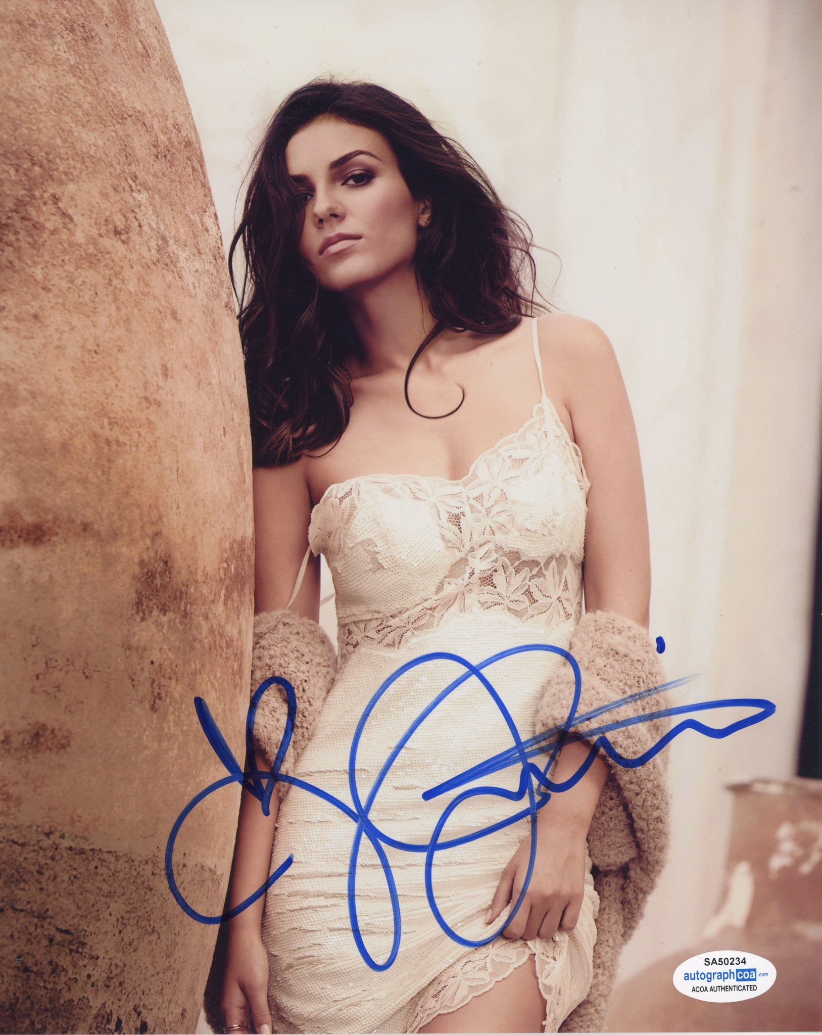 Victoria Justice Sexy Signed Autograph 8x10 Photo ACOA
