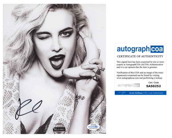Riley Keough Sexy Signed Autograph 8x10 Photo ACOA