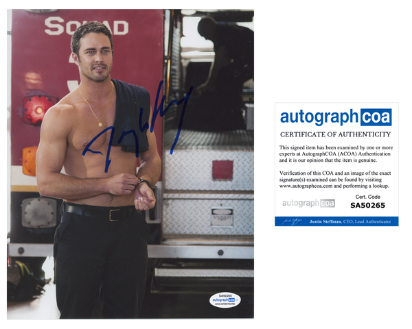 Taylor Kinney Chicago Fire Signed Autograph 8x10 Photo ACOA