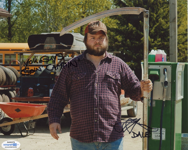 Tyler Labine Tucker and Dale Signed Autograph 8x10 Photo ACOA