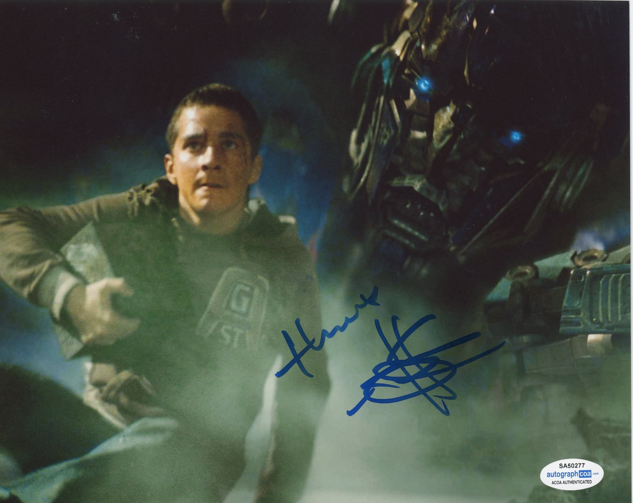 Shia Labeouf Transformers Signed Autograph 8x10 Photo ACOA
