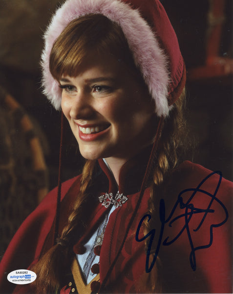 Elizabeth Lail Once Upon A Time Elsa Signed Autograph 8x10 Photo ACOA