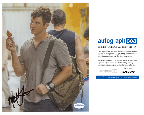 Matt Lanter Star-Crossed Signed Autograph 8x10 Photo ACOA