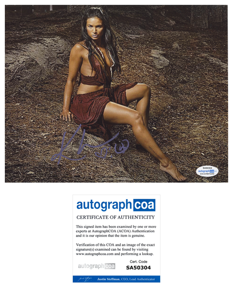 Katrina Law Spartacus Signed Autograph 8x10 Photo ACOA