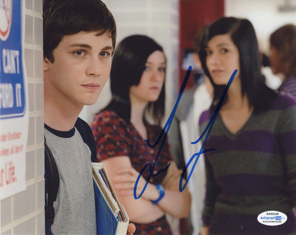 Logan Lerman Perks Wallflower Signed Autograph 8x10 Photo ACOA