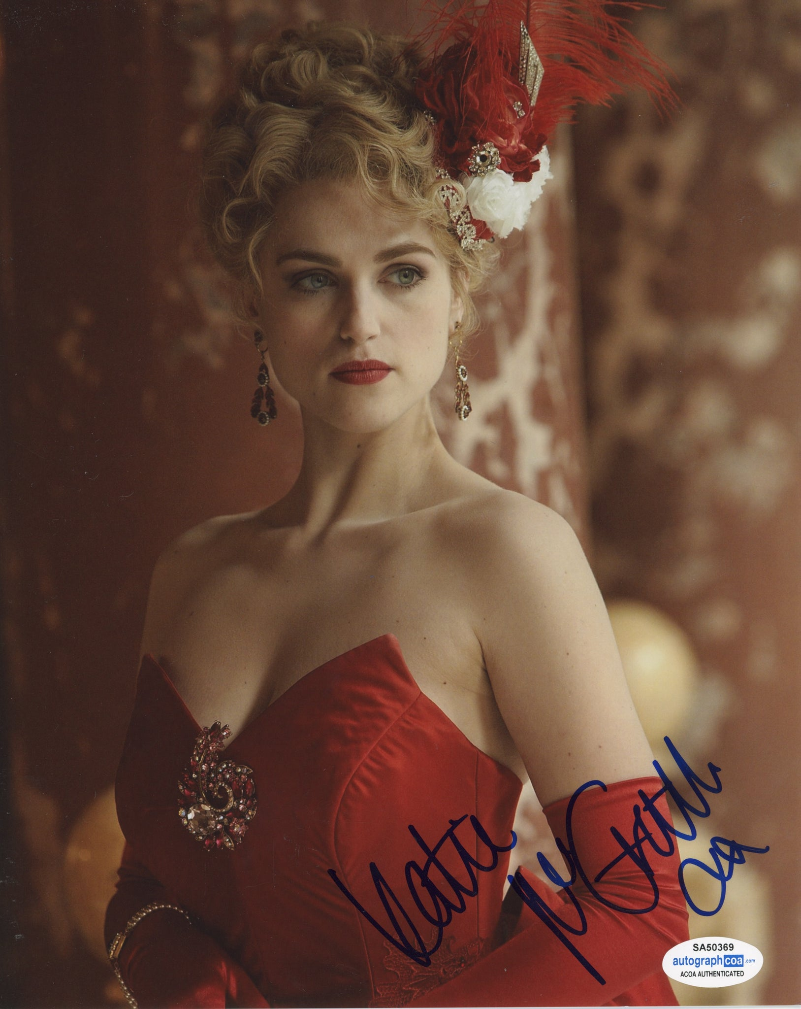 Katie McGrath Dracula Signed Autograph 8x10 Photo ACOA