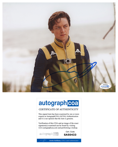 James McAvoy X-Men Signed Autograph 8x10 Photo ACOA Xavier