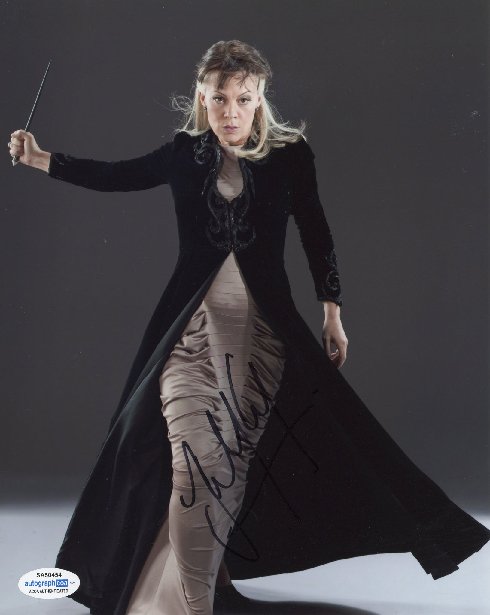 Helen McCrory Harry Potter Signed Autograph 8x10 Photo ACOA