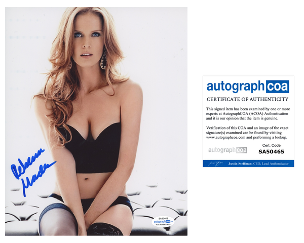 Rebecca Mader Sexy Signed Autograph 8x10 Photo ACOA