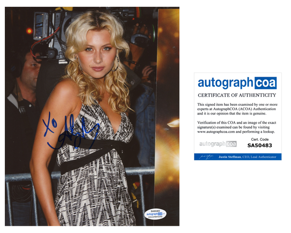 Aly Michalka Sexy Signed Autograph 8x10 Photo ACOA