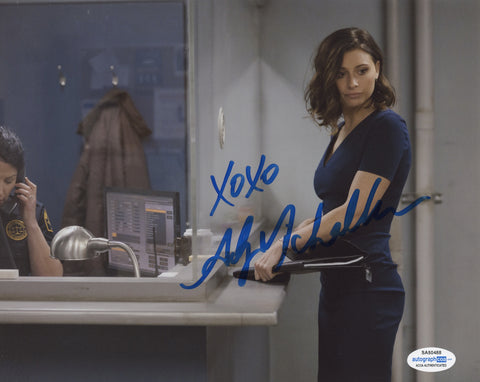 Aly Michalka iZombie Sexy Signed Autograph 8x10 Photo ACOA