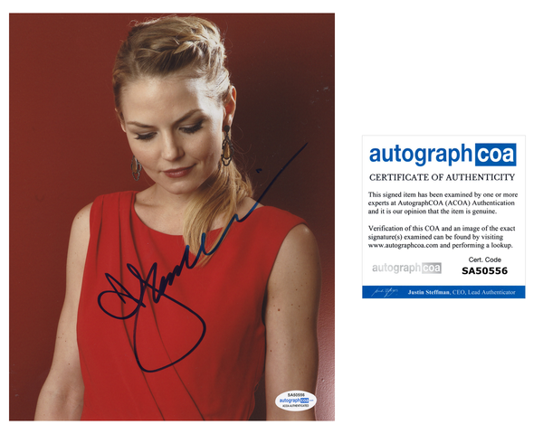 Jennifer Morrison Once Upon A Time Signed Autograph 8x10 Photo ACOA