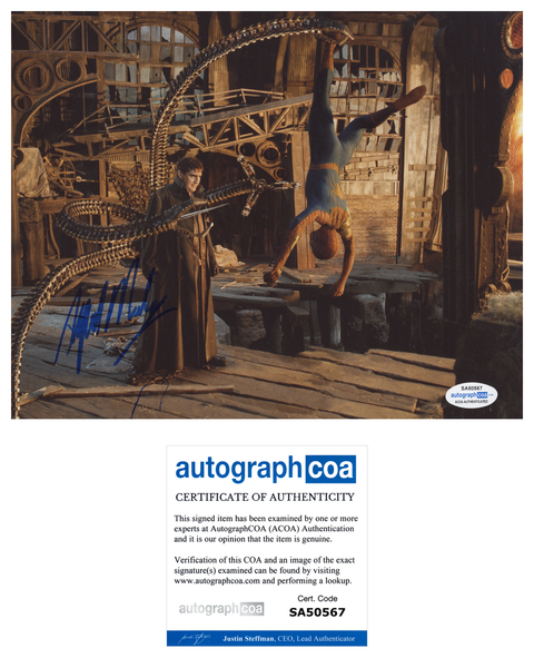 Alfred Molina Spiderman Signed Autograph 8x10 Photo ACOA