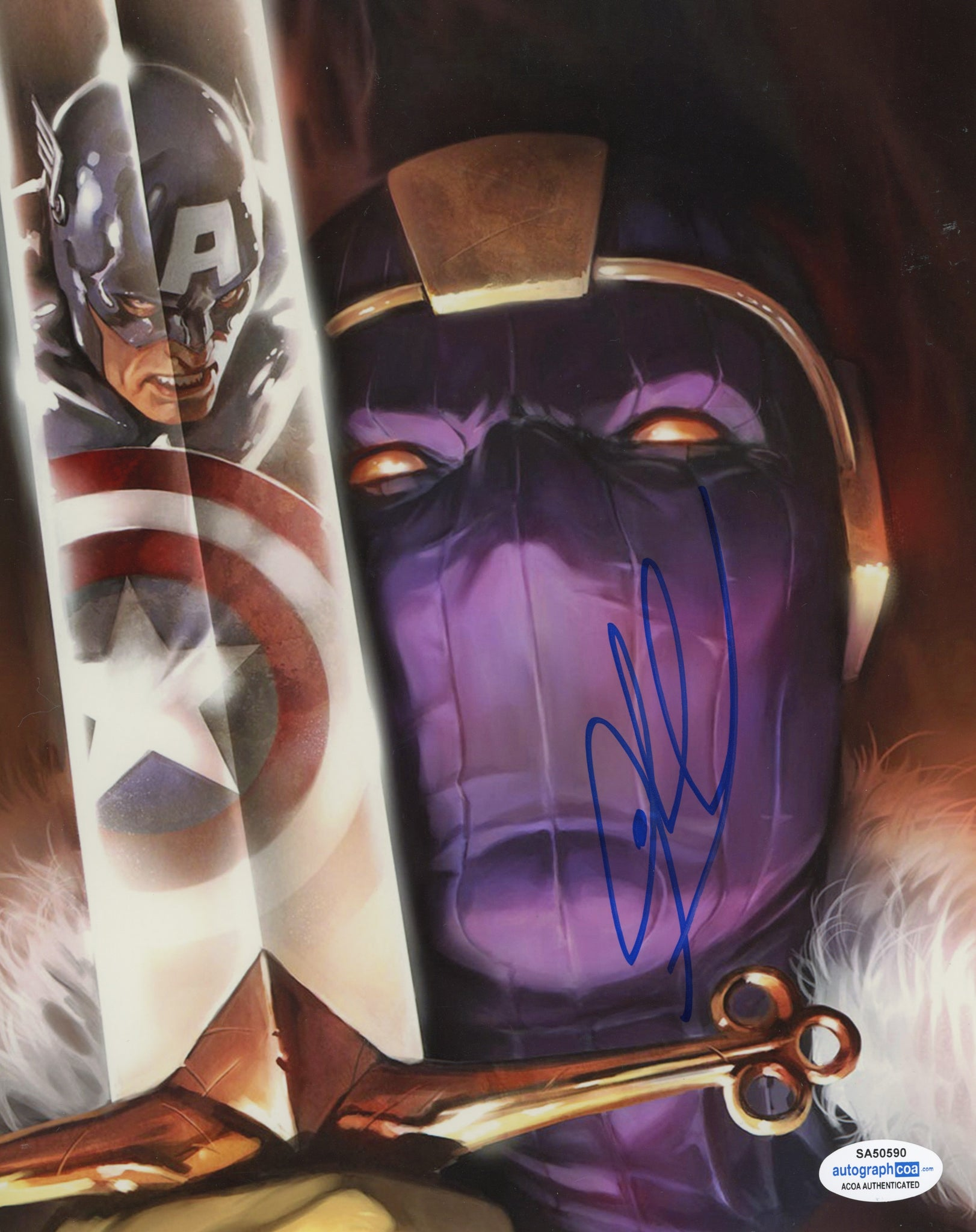 Daniel Bruhl Baron Zemo Winter Soldier Signed Autograph 8x10 Photo ACOA