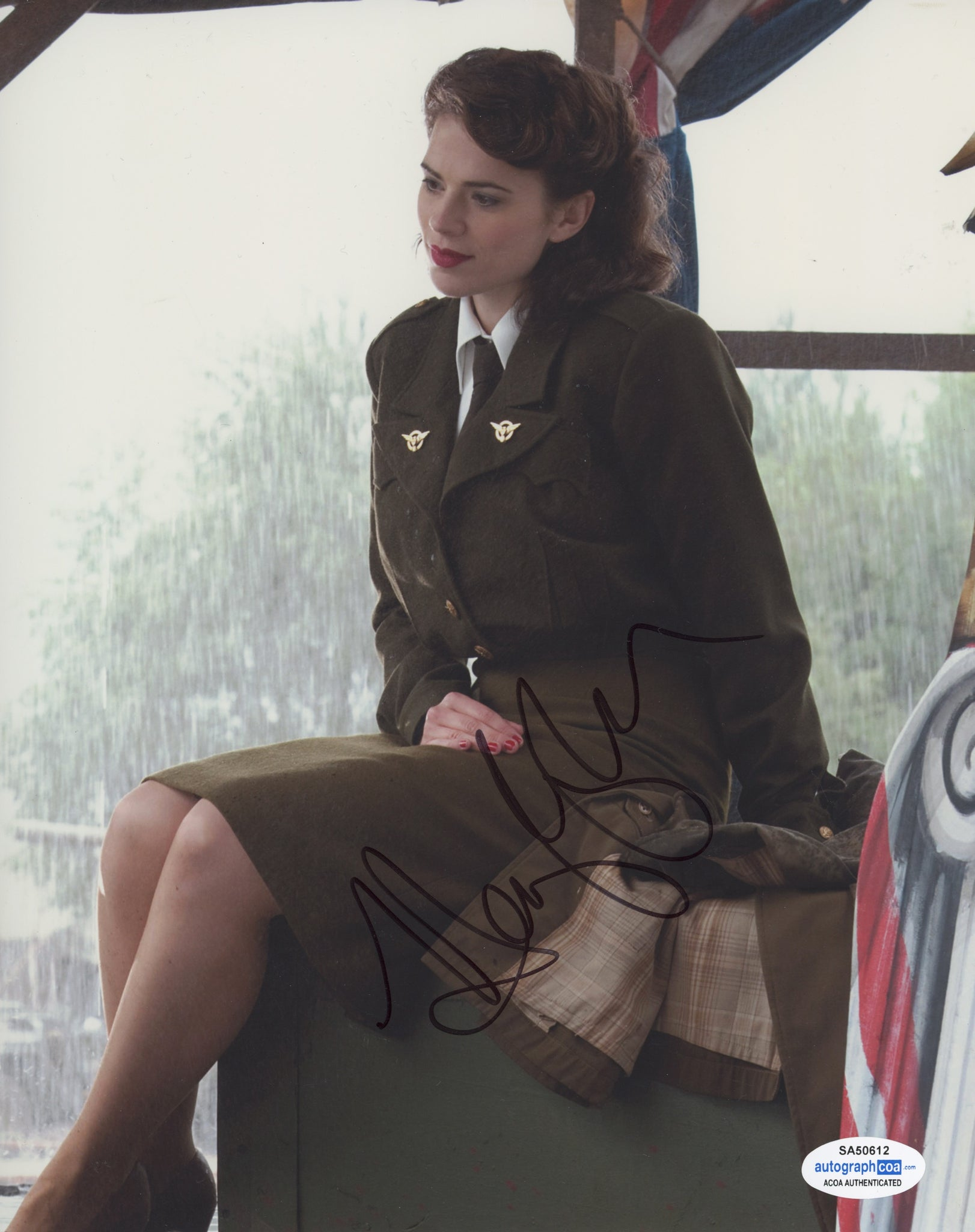 Hayley Atwell Captain America Peggy Carter Signed Autograph 8x10 Photo ACOA