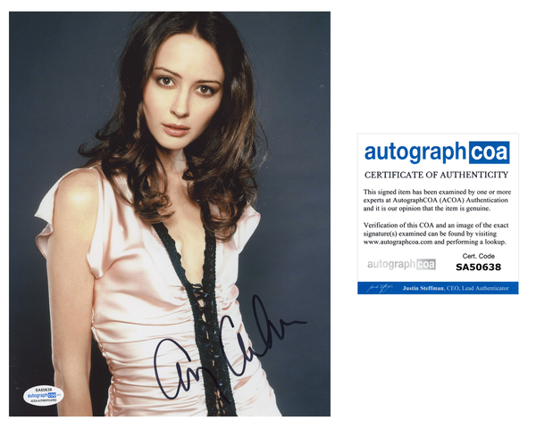 Amy Acker Sexy Signed Autograph 8x10 Photo ACOA