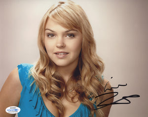 Aimee Teegarden Sexy Friday Night Lights Signed Autograph 8x10 Photo ACOA