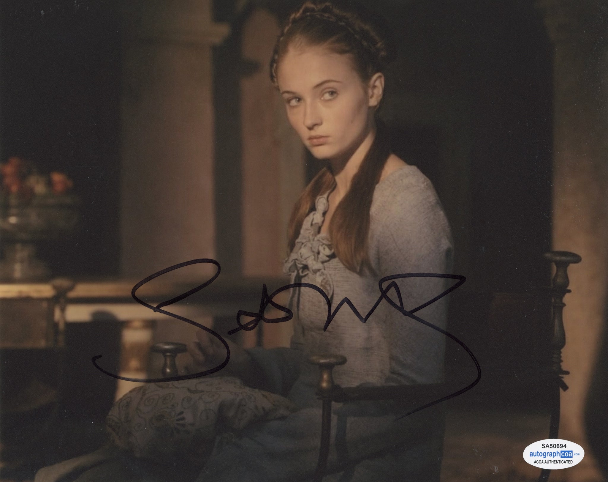 Sophie Turner Sexy Game of Thrones Signed autograph 8x10 Photo ACOA