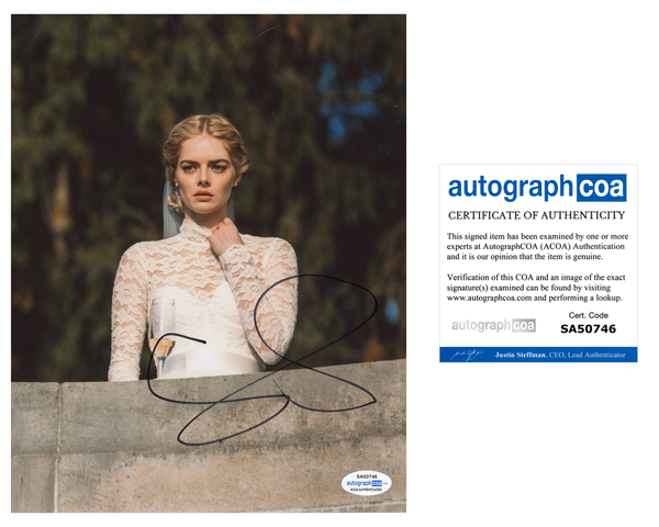 Samara Weaving Ready or Not Signed Autograph 8x10 Photo ACOA