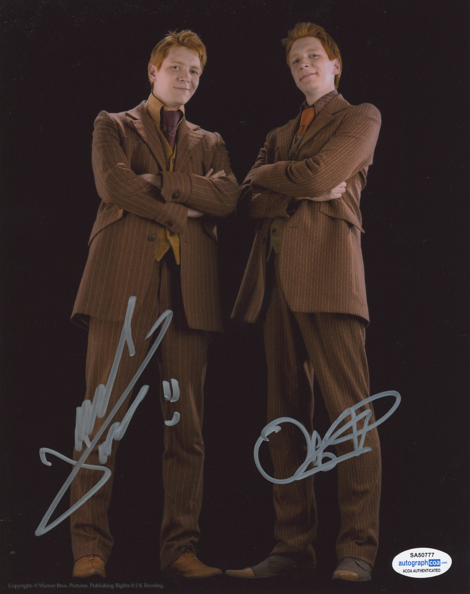 Oliver and James Phelps Signed Autograph 8x10 Photo ACOA