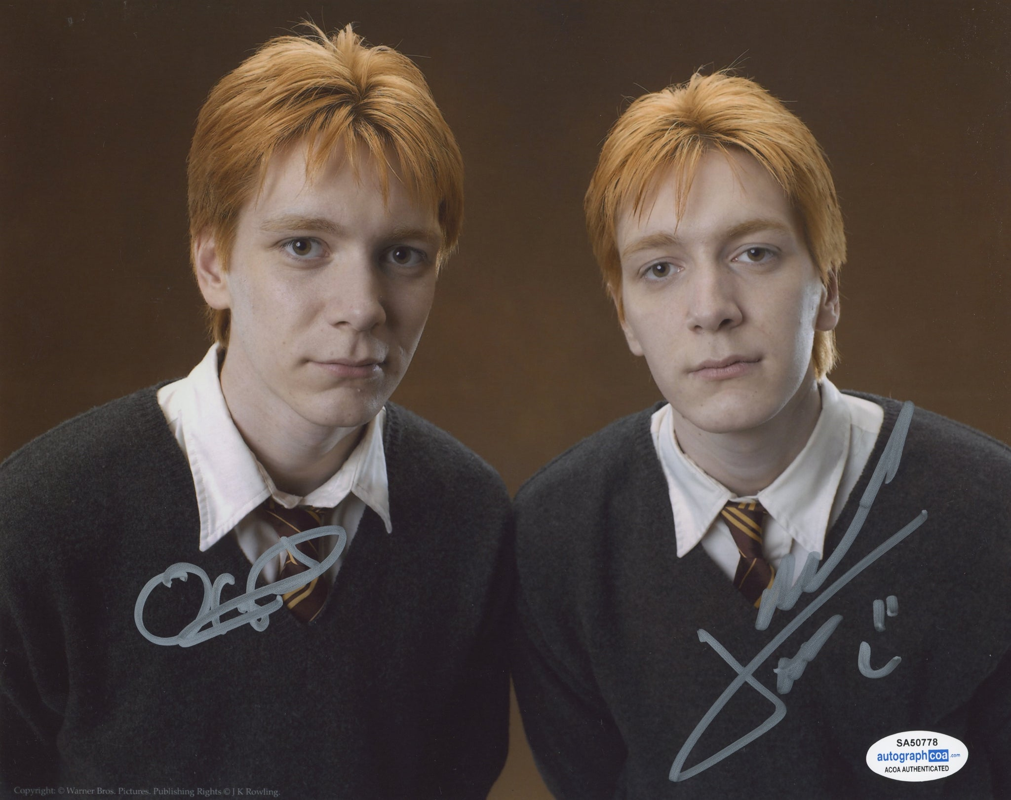 Oliver and James Phelps Harry Potter Signed Autograph 8x10 Photo ACOA