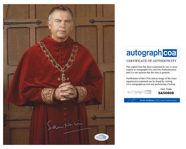 Sam Neill The Tudors Signed Autograph 8x10 Photo ACOA