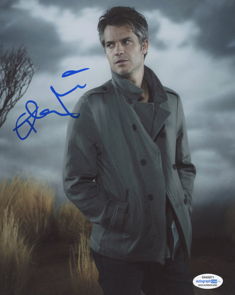 Timothy Olyphant Justified Signed Autograph 8x10 Photo ACOA