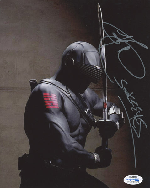 Ray Park Snake Eyes Signed Autograph 8x10 Photo ACOA
