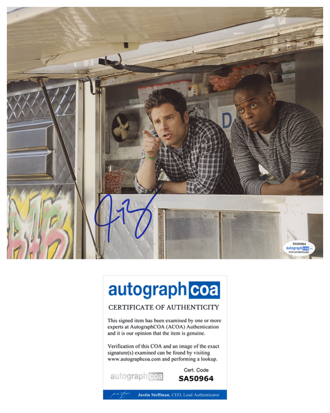 James Roday Rodriguez Psych Autograph 8x10 Photo ACOA
