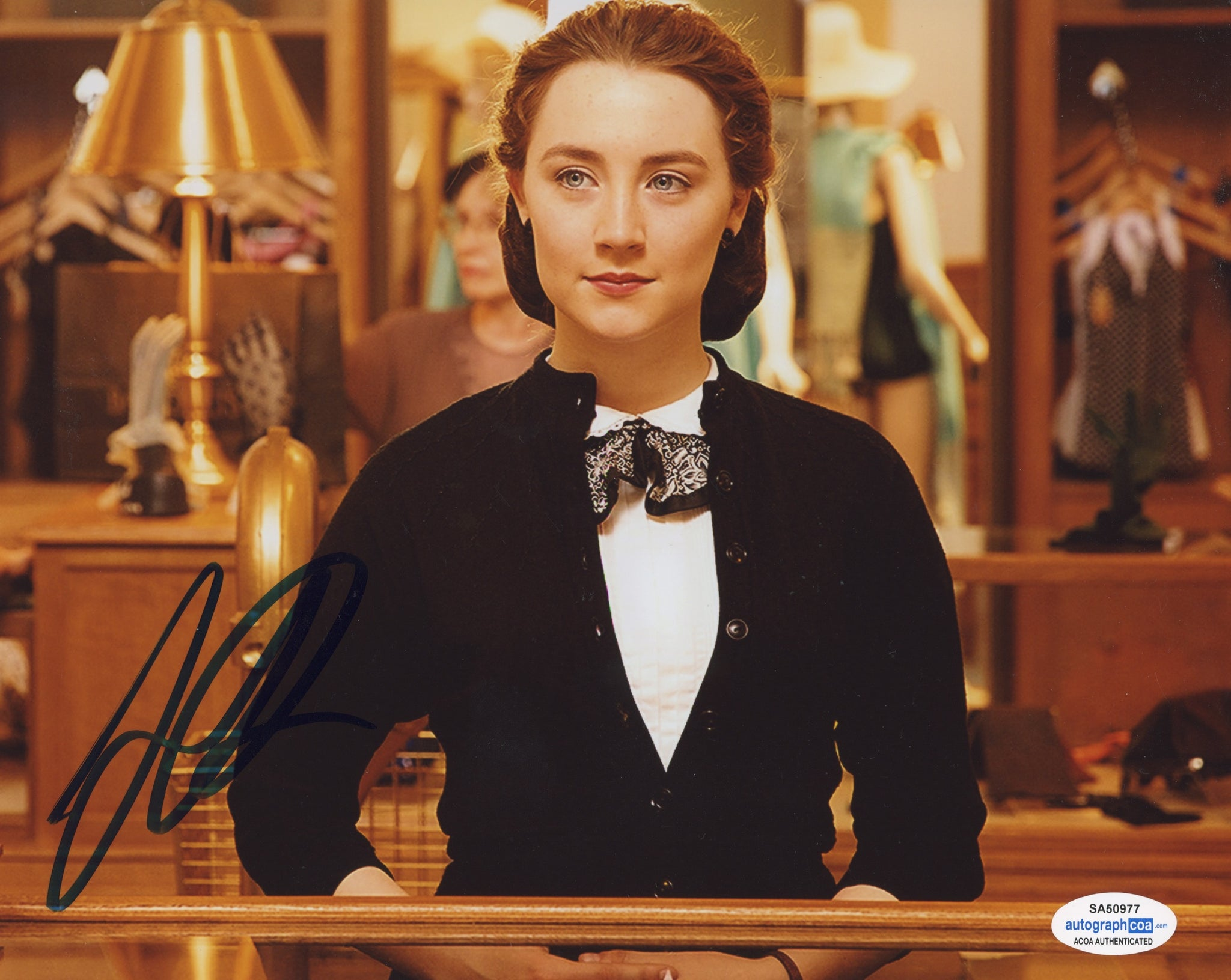 Saoirse Ronan Brooklyn Signed Autograph 8x10 Photo ACOA