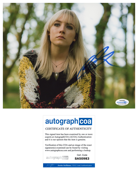 Saoirse Ronan How I Live Now Signed Autograph 8x10 Photo ACOA
