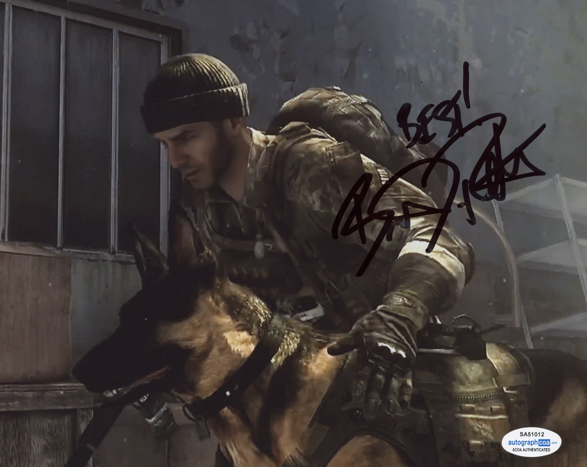 Brandon Routh Call of Duty Signed Autograph 8x10 Photo ACOA