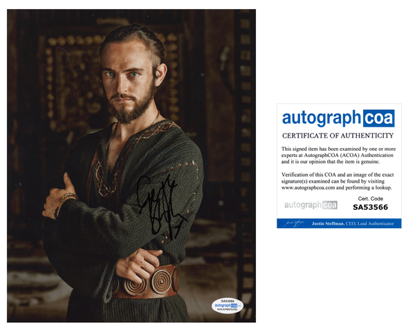 George Blagden Vikings Signed Autograph 8x10 Photo ACOA
