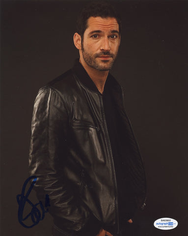 Tom Ellis Lucifer Signed Autograph 8x10 Photo ACOA