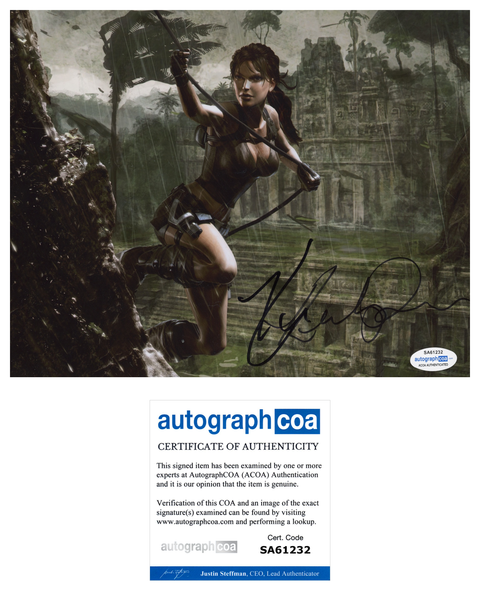Keeley Hawes Tomb Raider Signed Autograph 8x10 Photo ACOA