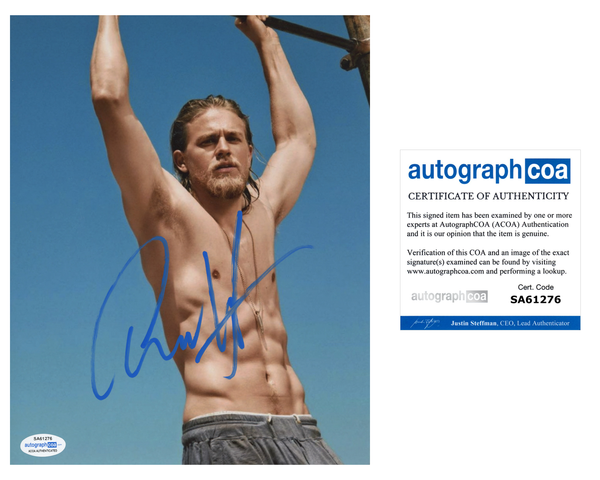 Charlie Hunnam Sons of Anarchy Signed Autograph 8x10 Photo ACOA