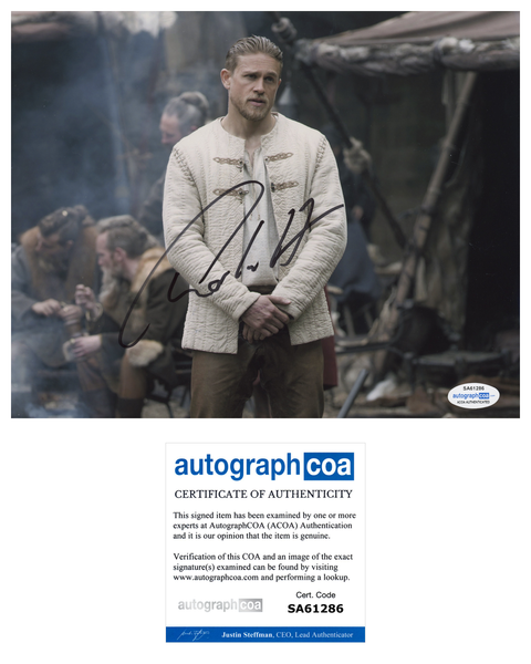 Charlie Hunnam King Arthur Signed Autograph 8x10 Photo ACOA