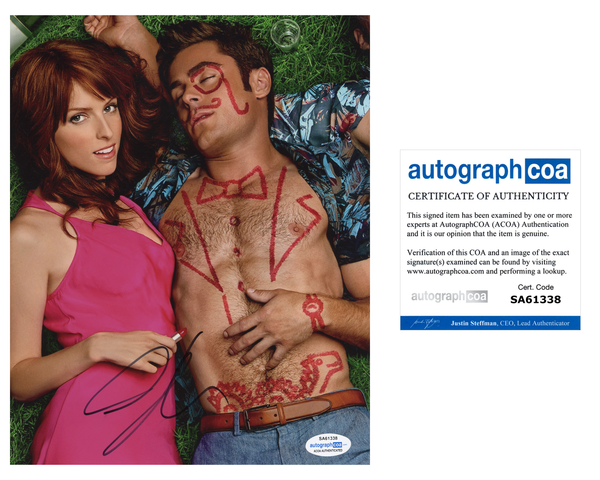 Anna Kendrick Mike and Dave Signed Autograph 8x10 Photo ACOA