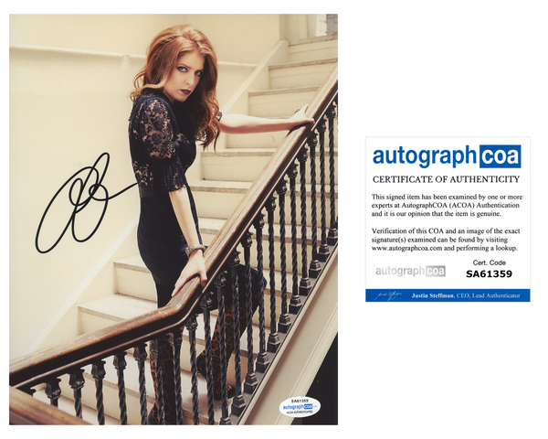 Anna Kendrick Sexy Signed Autograph 8x10 Photo ACOA
