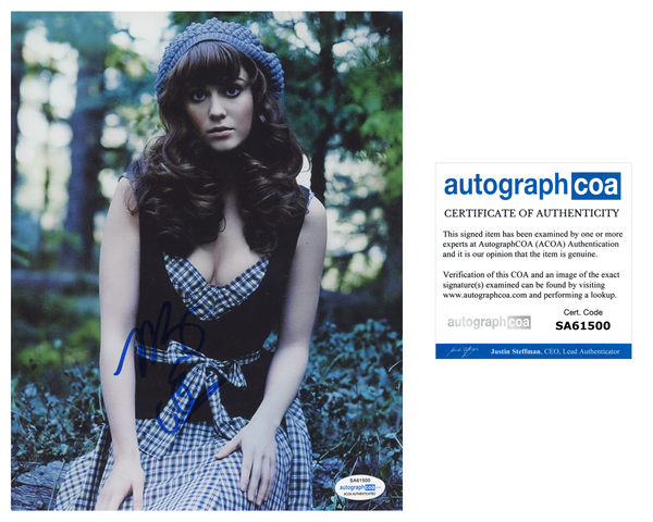 Mary Elizabeth Winstead Signed Autograph 8x10 Photo ACOA
