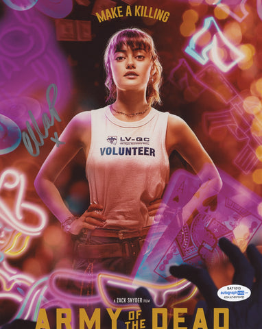 Ella Purnell Army of the Dead Signed Autograph 8x10 Photo ACOA